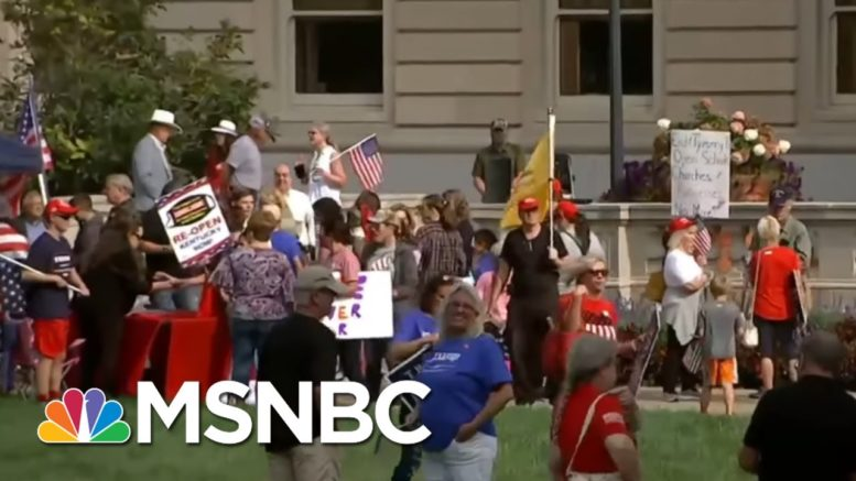 Protesters Gather Outside Kentucky Supreme Court During Case On Coronavirus Restrictions | MSNBC 1