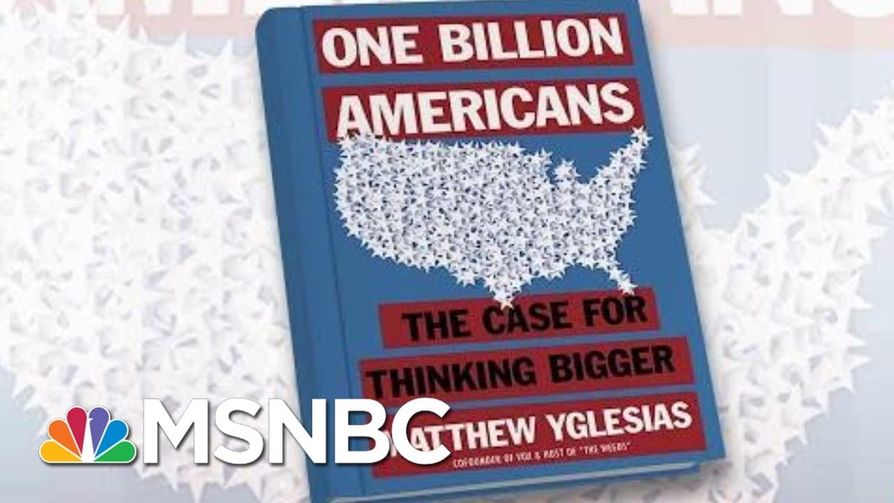 'We Should Be Investing In The Population,' Says Author   Morning Joe   MSNBC 7