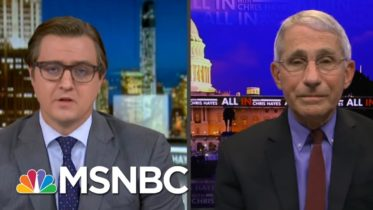 Dr. Fauci Challenges Chris Hayes To A Game Of Basketball Post-Vaccine In 2021 | All In | MSNBC 6