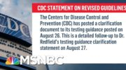 CDC Reverses Course On Testing Asymptomatic People For Covid-19 | Ayman Mohyeldin | MSNBC 3