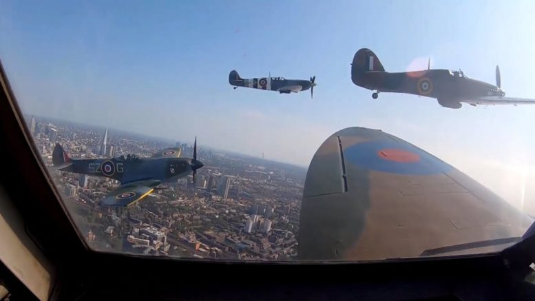 Spitfires fly over London to mark 80 years since Battle of Britain 1