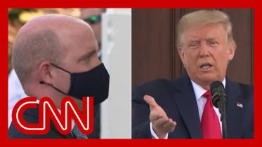 Trump tells reporter to take mask off during briefing 1