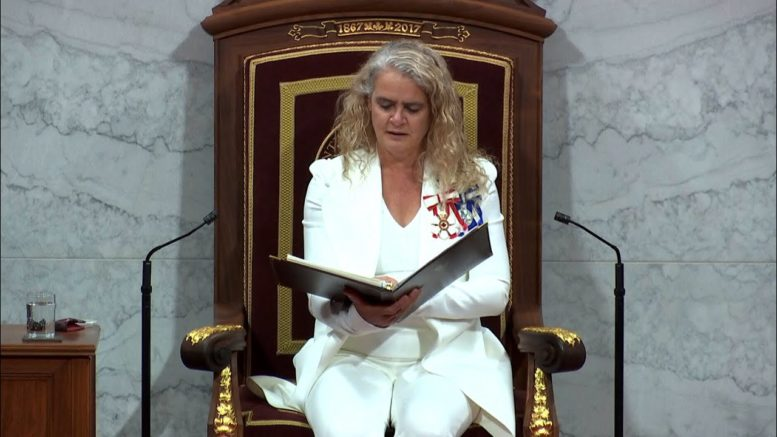 Throne speech lays out four foundations 1