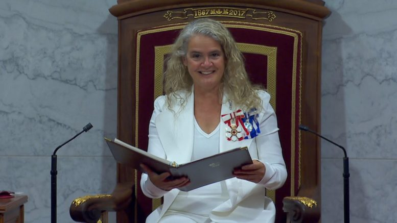 Watch Gov. Gen. Julie Payette deliver the government's full throne speech amid the COVID-19 pandemic 1