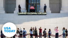 Justice Ruth Bader Ginsburg lies in repose at the Supreme Court | USA TODAY 1