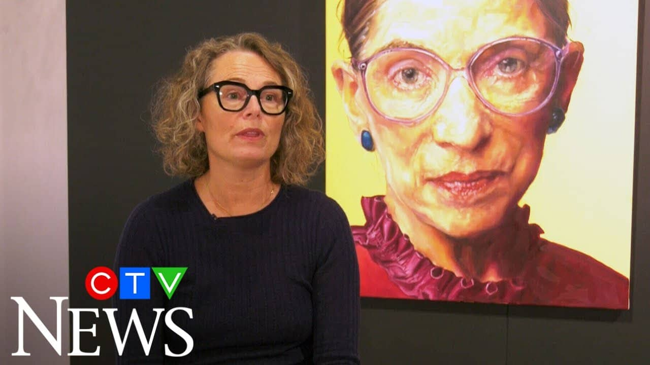 Edmonton artist's RBG portrait graces cover of TIME 1
