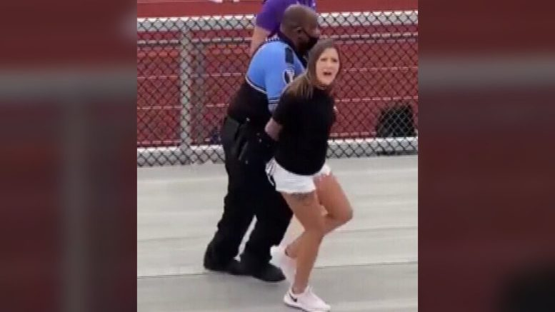 An Ohio woman was arrested and Tasered at a high school football game for refusing to wear mask 1