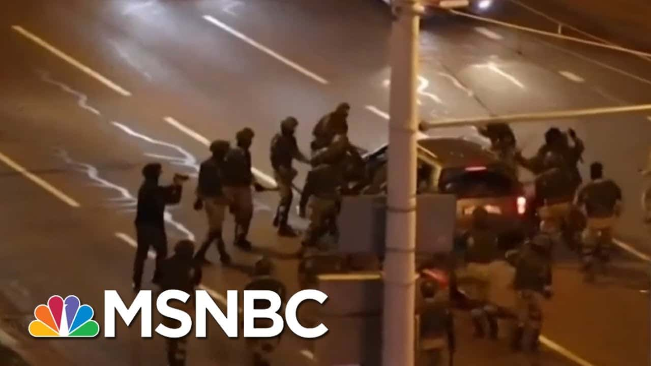 Protests Erupt In Belarus Amid Secret Inauguration | Morning Joe | MSNBC 1