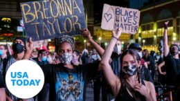 New York protesters 'say her name' after no criminal charges in Breonna Taylor death | USA TODAY 9