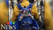 Oregon boy donates Baby Yoda doll to support firefighters 3