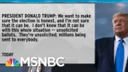 Polling Poorly, Trump Runs Against Election Itself & Supporters Follow Suit | Rachel Maddow | MSNBC 2