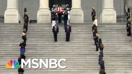 Members Of Congress Pay Respects As Casket Of Ruth Bader Ginsburg Departs U.S. Capitol | MSNBC 9