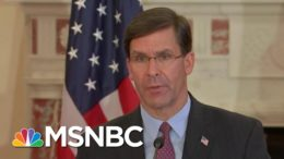 'Very Important' To Get Mark Esper 'On The Record' About Military Use Around Election | MSNBC 7