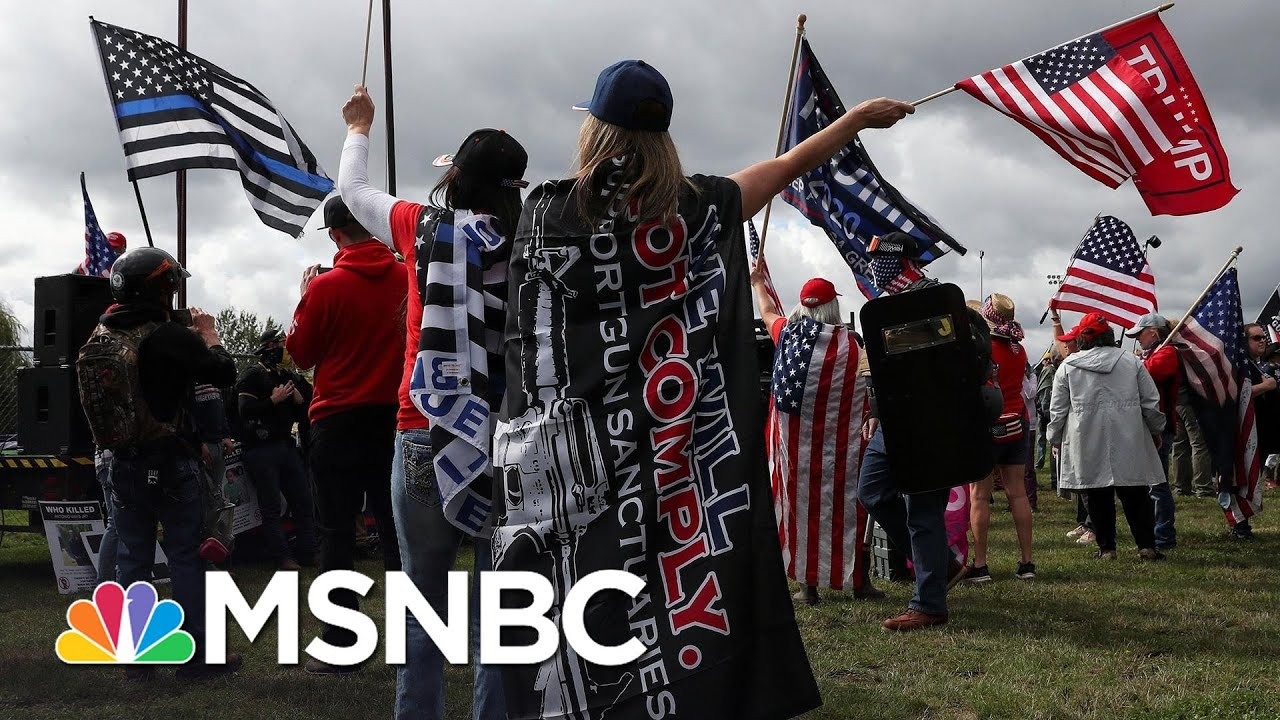 Portland Braces For Potential Violent Clashes Between Right-Wing Rally And Protesters   MSNBC 3