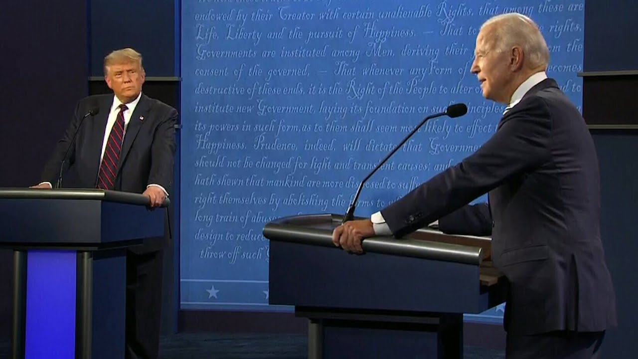 'Would you shut up?': Biden and Trump have tense exchanges at the 2020 presidential debate 9