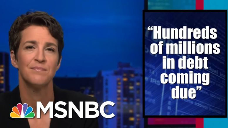 Perils Of Trump Driven By Debt Desperation A Concern Raised By NYT Tax Story | Rachel Maddow | MSNBC 1