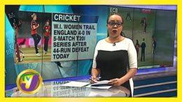 England Takes 5 - 0 Lead Over W.I. Women - September 28 2020 1