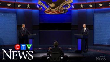 Donald Trump and Joe Biden face off in tumultuous debate 6