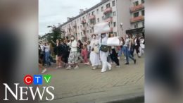 Women stand in solidarity amid election protests in Belarus 9