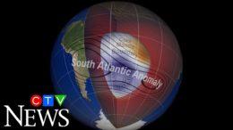 Earth's magnetic field area appears to be splitting in half 3