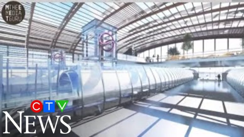 Alberta just gave a company approval to look at building a hyperloop between Calgary and Edmonton. 1