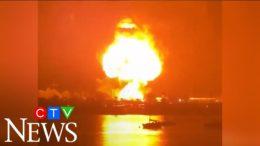 Explosion sends huge fireball into the sky 8