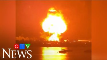 Explosion sends huge fireball into the sky 6
