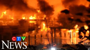 Fire destroys sections of New Westminster's Pier Park 6