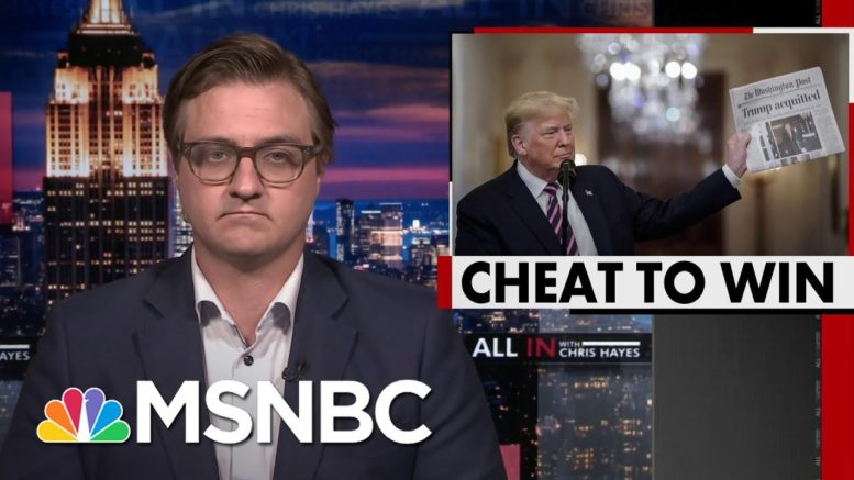 Chris Hayes: In Every Aspect Of His Life, Donald Trump Is A Cheater | All In | MSNBC 1