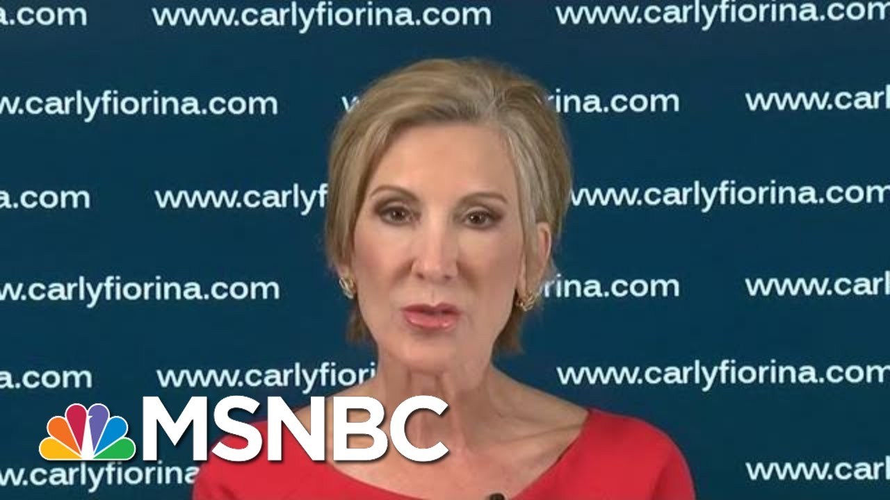 Carly Fiorina: Dems Also Can't Ignore Nativism, Racism   Morning Joe   MSNBC 4