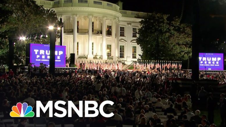 Trump Niece: Dangerous White House Audience Helps Trump Pretend 2020 Never Happened   MSNBC 1