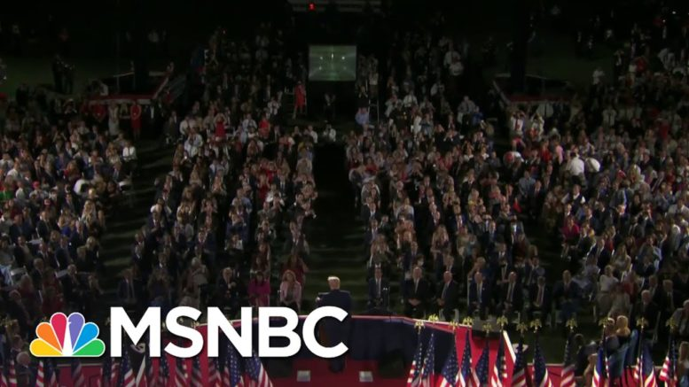 McCaskill: Trump Shows He Doesn't Care About COVID-19 With RNC Crowd | The 11th Hour | MSNBC 1