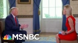 Trump Flubs Softball Interview, Compares Police Shooting Unarmed Black Man To Golf | All In | MSNBC 2