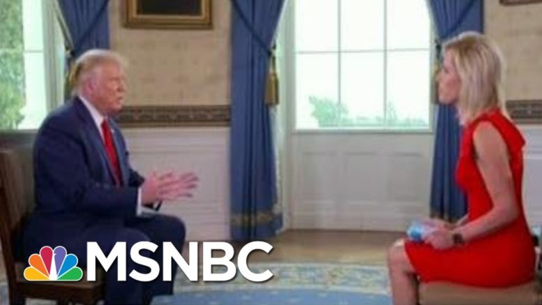 Trump Flubs Softball Interview, Compares Police Shooting Unarmed Black Man To Golf | All In | MSNBC 1