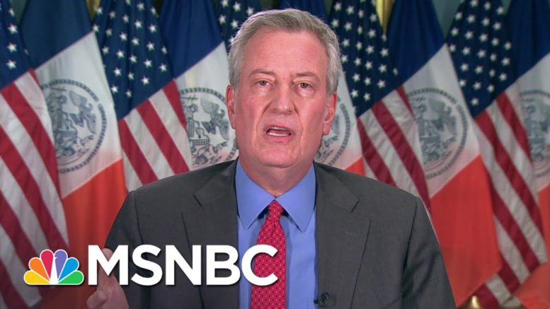 De Blasio Responds To Trump's NYC Defunding Threat: It's Just Blatantly Unconstitutional | MSNBC 1