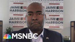 SC Democratic Senate Candidate Jaime Harrison: 'Voting Twice Is Illegal' | Andrea Mitchell | MSNBC 4