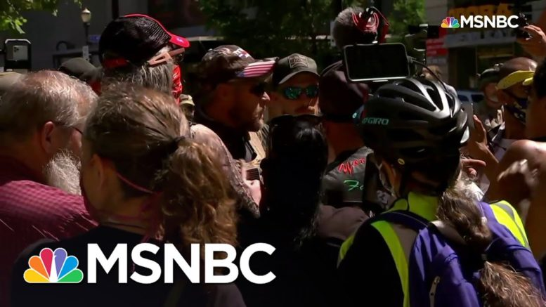 Demonstrators Confront Counter-Protesters In Downtown Louisville | MSNBC 1