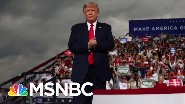Trump Hits Biden And Mocks Social Distancing At Packed Rally | The 11th Hour | MSNBC 1