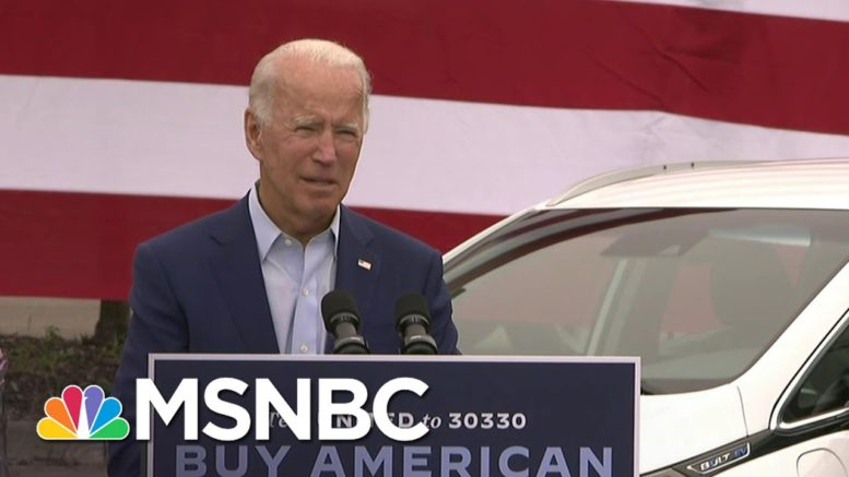 Biden Hopes To Create 'One Million New Jobs' In The Automobile Industry   MSNBC 1