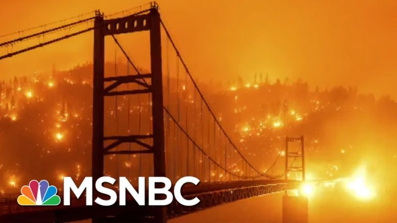 Apocalyptic Instagram Filter: Wildfires Show Irreversible Damage Of Climate Crisis   All In   MSNBC 1