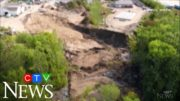 Drone footage shows massive landslide blocking Maine river 4