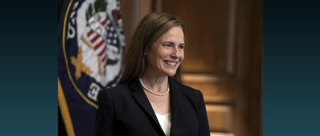 48-year-old Amy Coney Barrett confirmed as Supreme Court justice in partisan vote