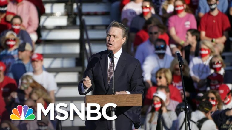 Georgia's Perdue Mocks Name Of His Own Senate Colleague, Kamala Harris   Rachel Maddow   MSNBC 1