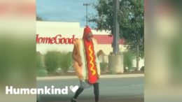Man in hot dog costume is dancing his buns off | Humankind 8