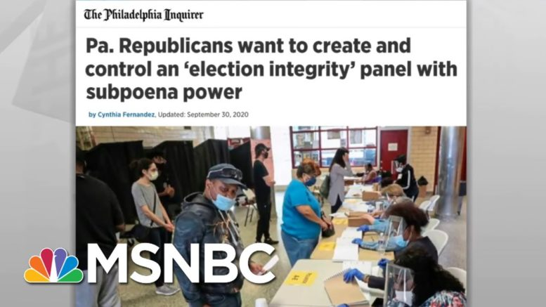 PA Republicans Follow Trump's Lead, Move To Exert Control Over Election | Rachel Maddow | MSNBC 1