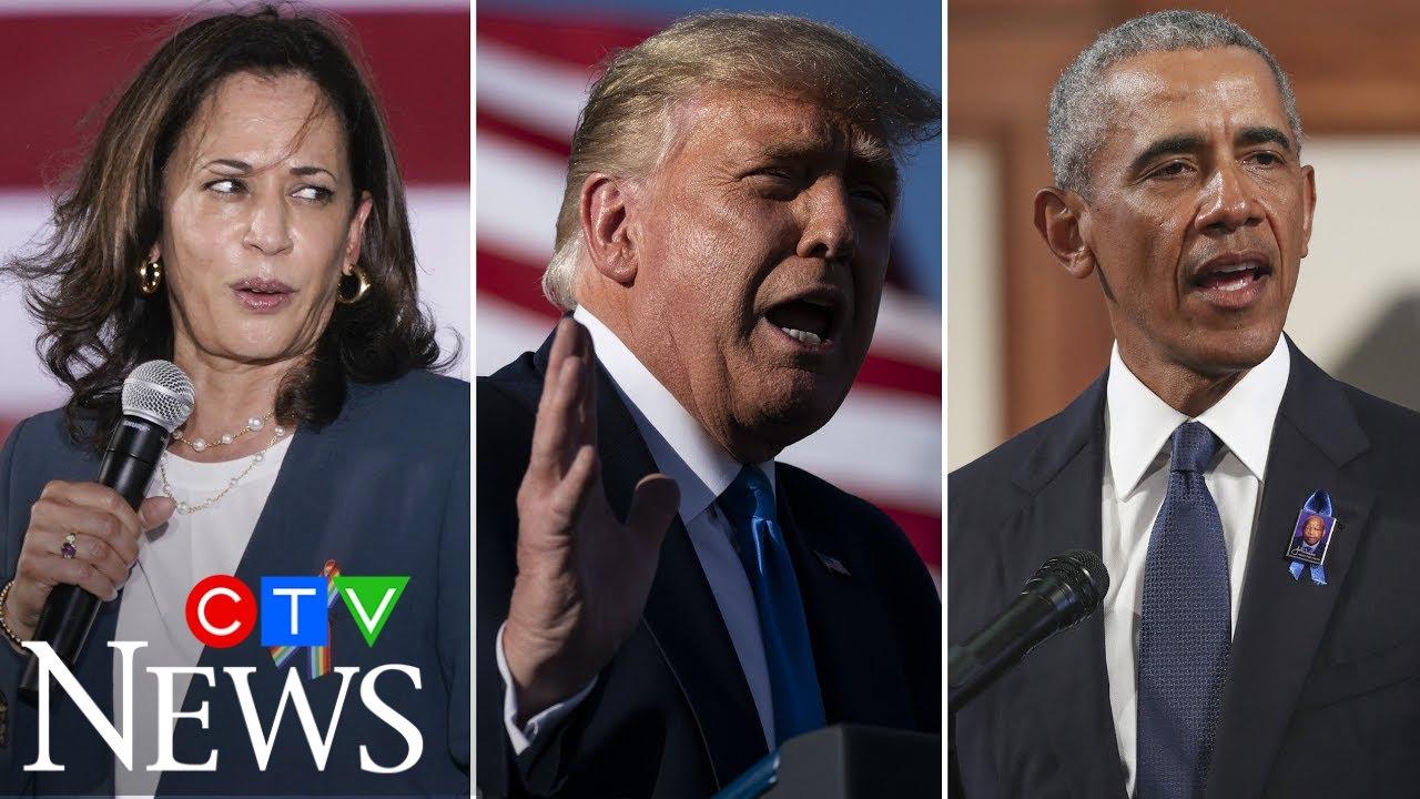 Kamala Harris blasts Trump's 'weird obsession' with Obama 1