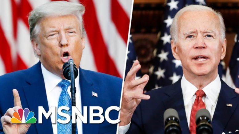 Trump Mocks Joe Biden For 'Listening To The Scientists' | Morning Joe | MSNBC 1