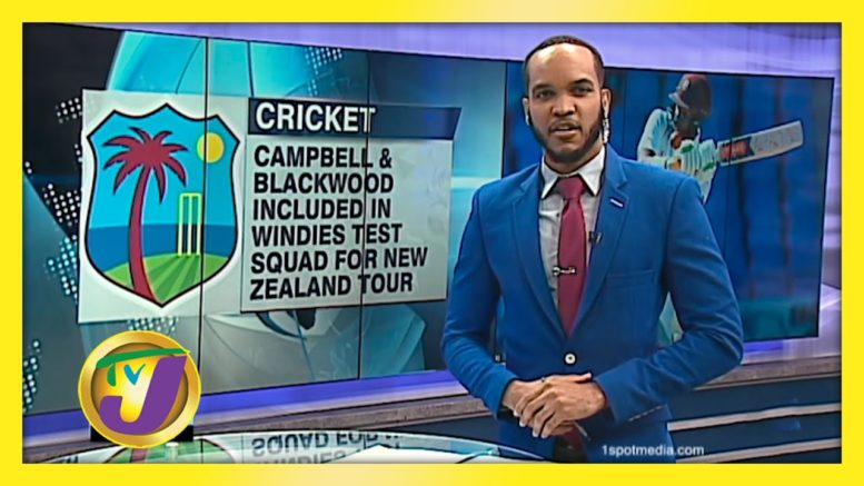 Campbell & Blackwood in W.I. Test Squad for New Zealand - October 16 2020 1