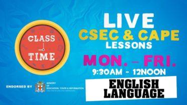English Language 10:35AM-11:10AM | Educating a Nation - October 20 2020 10