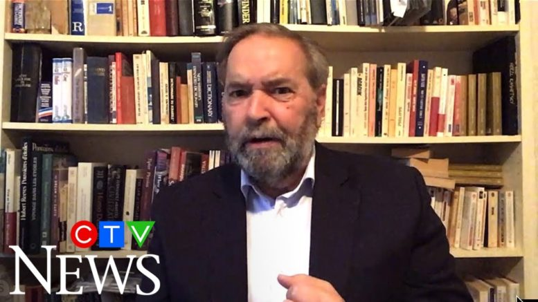 Tom Mulcair on why the Liberals would want an election 1
